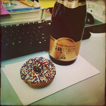 champagne & donuts